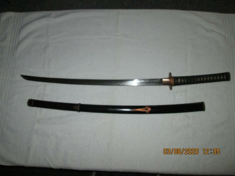 Antique Japanese samurai katana sword made by Taniguchi Yoshikane