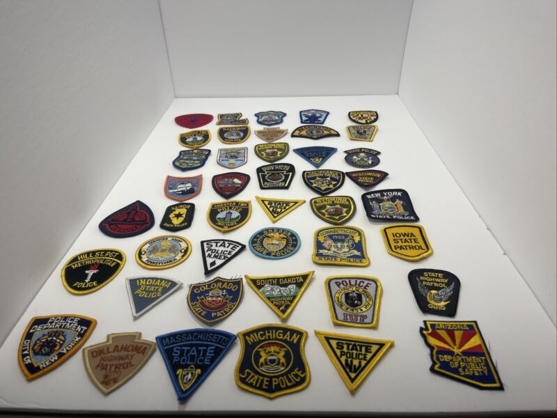 LOT OF 43 POLICE PATCHES (Small Style Patches) MINI