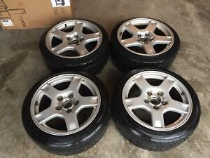 Corvette wheels with adapters to fit 01-06 VW Golf/Jetta
