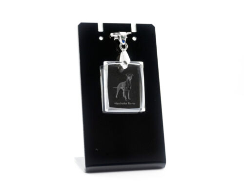 Manchester Terrier, Dog Crystal Necklace, High Quality, Crystal Animals CA