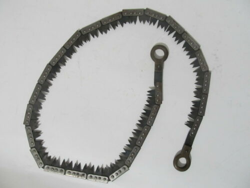 """Vintage Francis Wood Son Sheffield - British Trench """"Chain"""" Saw 44"""" Long"""
