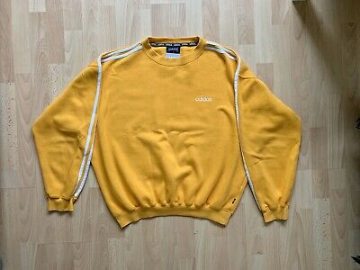 Rare Vintage Adidas Three Stripe Crew Neck Sweatshirt - Medium