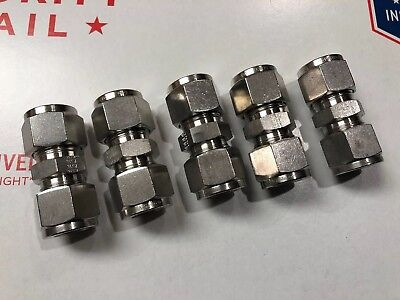 - PARKER A-LOK 8SC8-316 316 STAINLESS STEEL COMPRESSION TUBE FITTING UNION 1/2