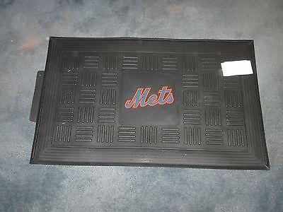 NEW YORK METS BASEBALL TEAM LOGO MLB VINYL RUBBER DOORMAT WELCOME MAT MADE IN US New York Mets Door Mat