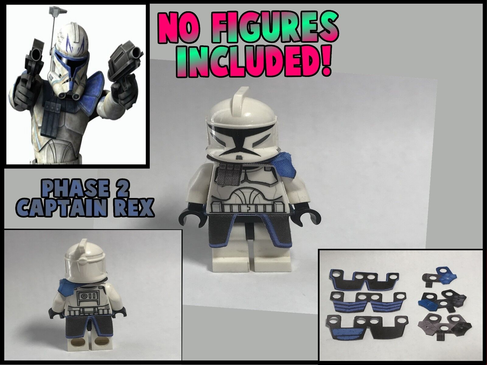 LEGO Star Wars Minifigure Lot of 2 Phase 2 Arc Echo Clone Kama and Pauldron