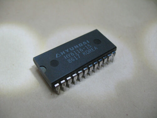 Qty. 3 Hyundai HY6116-15 Static Ram