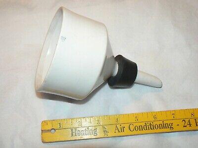 4 Coors Ceramic Porcelain Buchner Vacuum Filter Funnel Vintage Lab