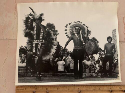Vintage B&W Photograph 1960s Hopi Indian Dancers Grand Canyon Arizona