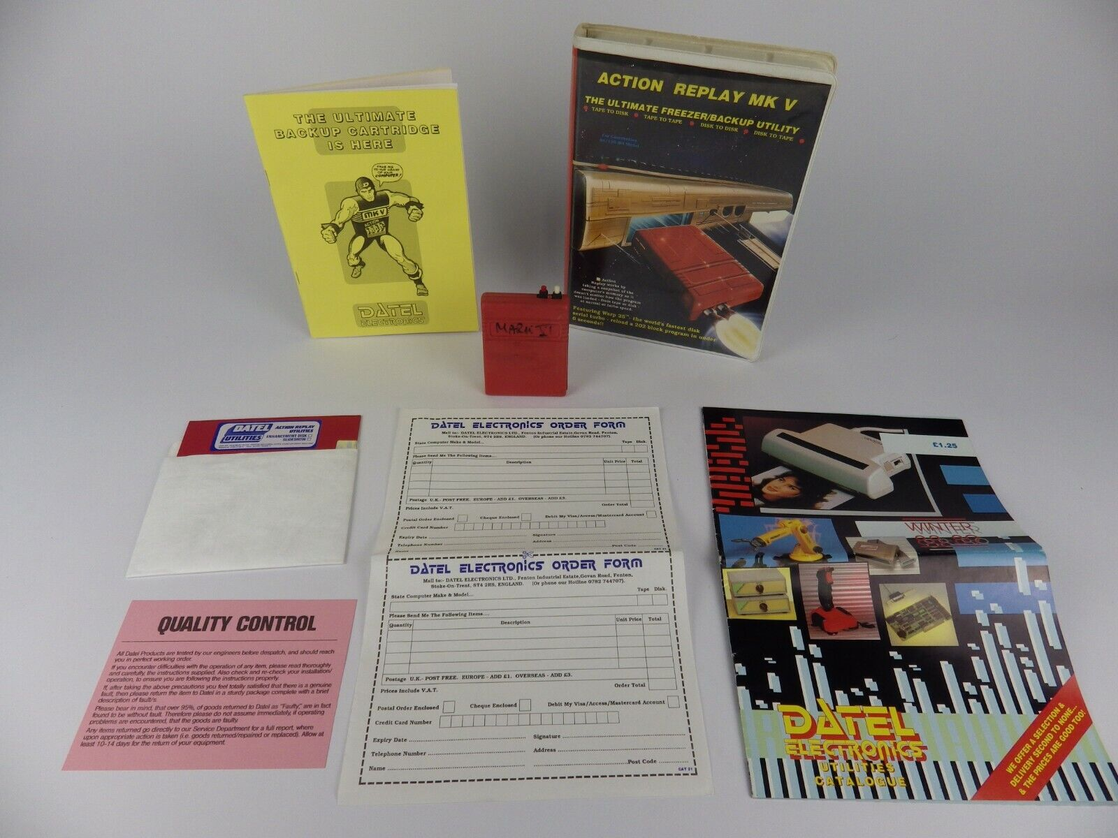 Computer Games - Complete Commodore 64 Boxed Action Replay Cartridge Set