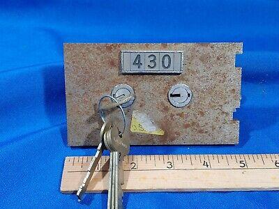 430 Lefebure 7700 Safe Deposit Box Lock Key Change W Keys 38 Nose Vtg