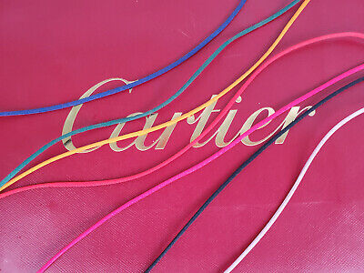 Authentc Cartier Cord Silk Love Trinity Bracelet Replacement Red Green Blue Orng Blue Silk Cord