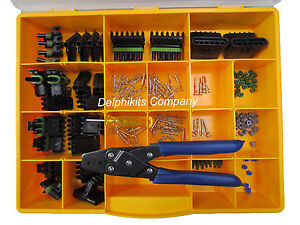 DELPHI-WEATHERPACK-CONNECTOR-KIT-WP-175-PCS-WITH-CRIMP-TOOL