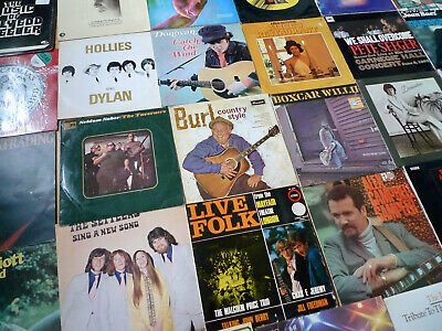 US/UK FOLK 28 x LP JOB LOT Pete Seeger Tom Paxton Donovan Joan Baez Judy Collins