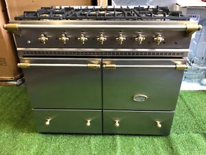 Stunning Lacanche Cluny Range cooker Double oven stainless steel and brass