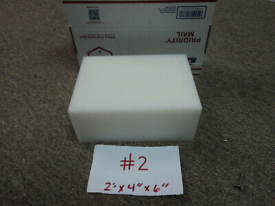"""Delrin White; TWO PIECES 1.25/"""" x 4.5/"""" x 6.5/"""" Acetal Plastic Sheet 1 1//4/"""""""