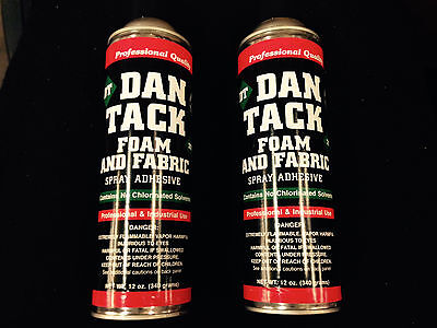 Dan Tack Spray Super Adhesive 12.00oz Professional Industrial Strength 2 Cans