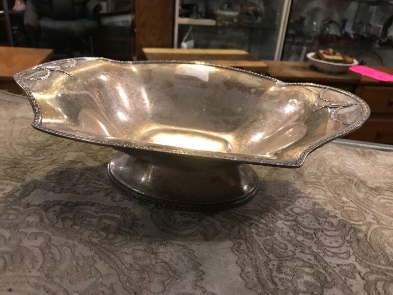Vintage Antique Art Deco Silver Plate Bowl Centerpiece