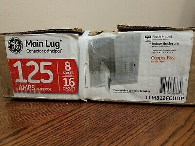 Ge Tlm812fcudp Powermark Gold 16-ckt 125-a Main Lug Convertible Load Center New