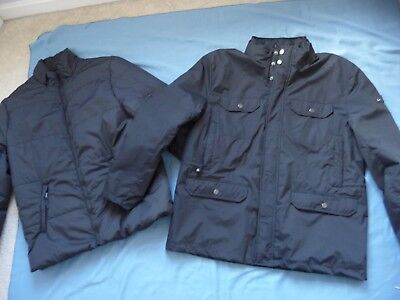 HAWKE & Co Outfitters KINGSTON Jacket NEW L 3 in 1 System Black Warm Well