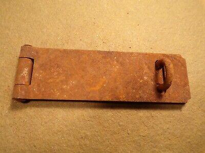 Vintage Antique Rustic Hinged Padlock Hasp Latch Lock Gate Door Chest