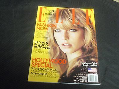 2001 NOVEMBER ELLE MAGAZINE - ANGELA LINDVALL FRONT FASHION COVER - O 6929