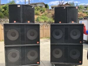 Complete JBL Speaker System with Amps