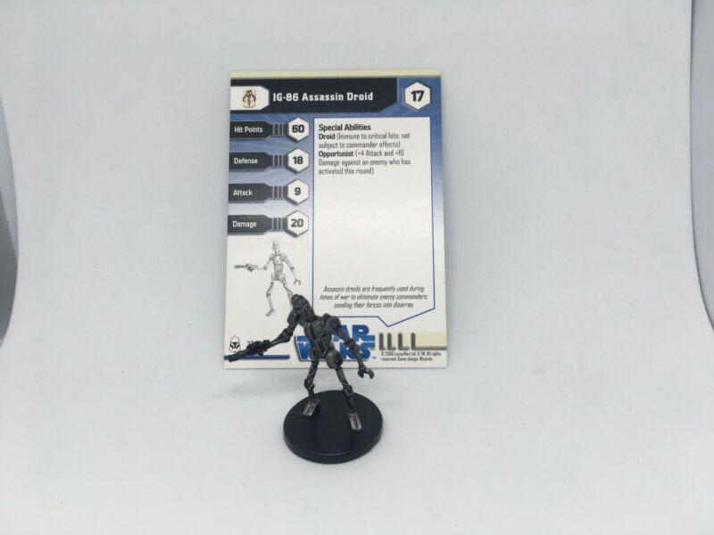Star Wars Miniatures IG-86 Assassin Droid w/ Card mini RPG Legion Assault Clone