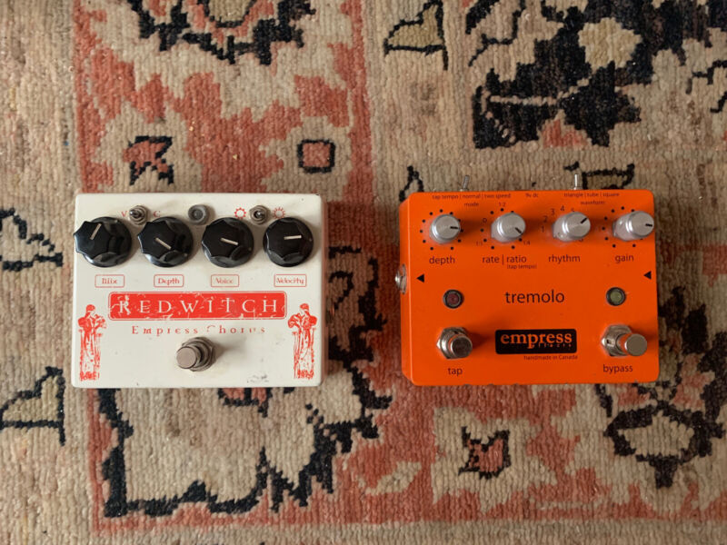 Empress Red Witch Chorus and Tremolo pedals
