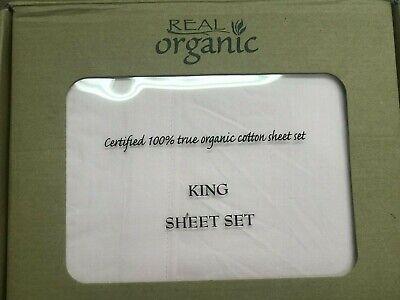 4pcs King Size Organic Cotton Bed Sheet Set 600 TC, Light Salmon Pink King Size