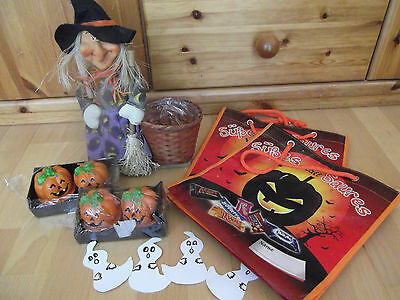 ::: Halloween-Dekoration :::  Übertopf, Taschen,Kerzen...11 teilig ::: M