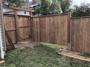 We do Deck, Fence, Post hole setting, post hole digging