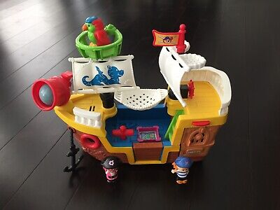 FISHER PRICE LITTLE PEOPLE PIRATE SHIP - 100% COMPLETE