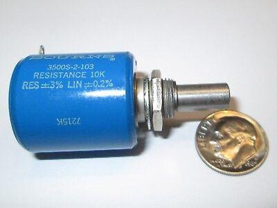 Bourns 3500s-2-104 100k Ohm 10-turn 2w Wire Wound Potentiometer  Nos