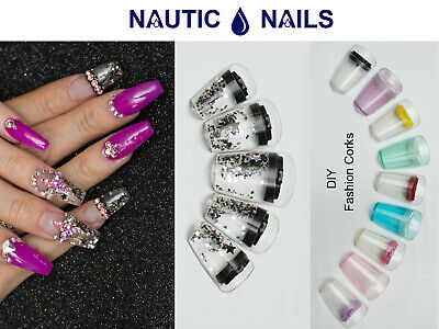 24 Aquarium Nails Acrylic False Nail Art Tips  Acrylic False Nail
