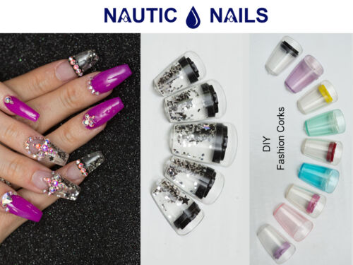 24 Aquarium Nails Acrylic False Nail Art Tips Syringe Injector Kit