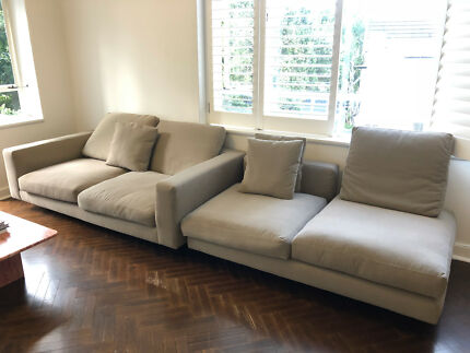 Sofa Couch with chaise - URGENT SALE!