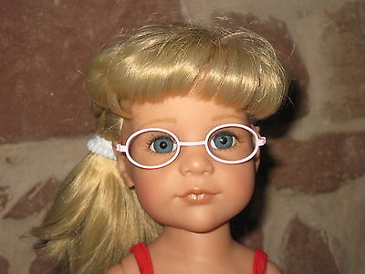 Brille, rosa, 46-50 cm Steh-Puppe, Puppenkleidung