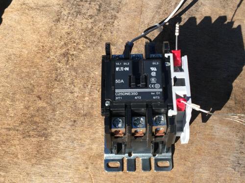 Eaton Cutler Hammer C25DNE350 Ser. D1 CONTACTOR  110/120V 50/60HZ  COIL *NEW**