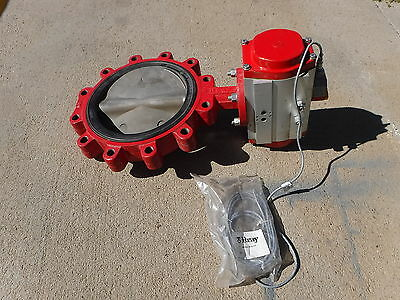 Bray 92-1270-11300-532 10 Pneumatic Actuator W Butterfly Valve W Cordset