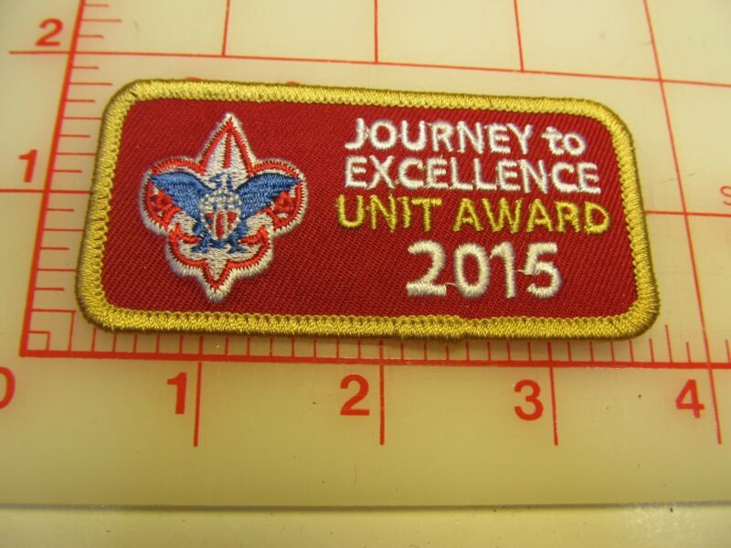 2015 Journey to Excellence Unit Award collectible patch (m10)