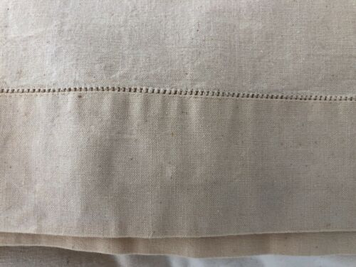 Antique French Linen and Cotton Bedsheet or Sheet