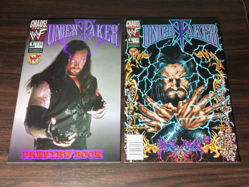 Undertaker (1999) lot of 9 VF/NM WWF Chaos Comic Books