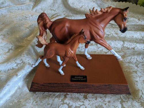 Rare Best Talking Horse Chestnut Mare & Foal Set