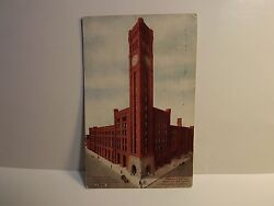 GRAND CENTRAL STATION CHICAGO CLOCK TOWER 1909 POSTCARD