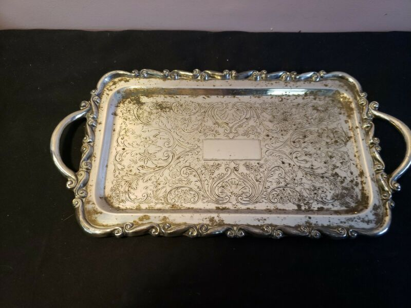 Vintage FB Rogers Silver Co. Relish Tray With Handles 11x6""