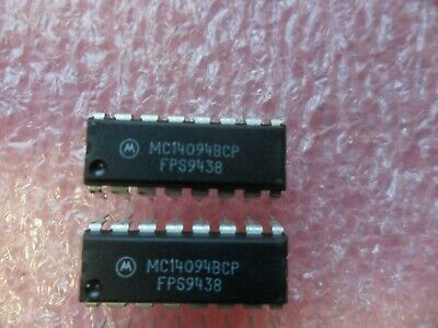 Mc14094bcp Ic Shift Register 8 Stage 16-pin Dip Lot Of 5