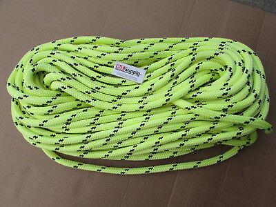 200ft X 58 Notch Kraken Monster Double Braid Rigging Rope 18500lb Arborist