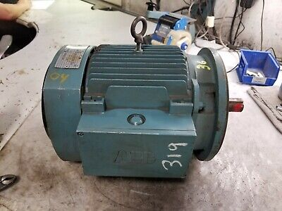 New Abb 3 Hp Electric Ac Motor 230460 Vac 1755 Rpm 182tc Frame 3 Phase