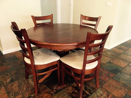 RRP 999 Harvey Norman Dining Suite Table Timber