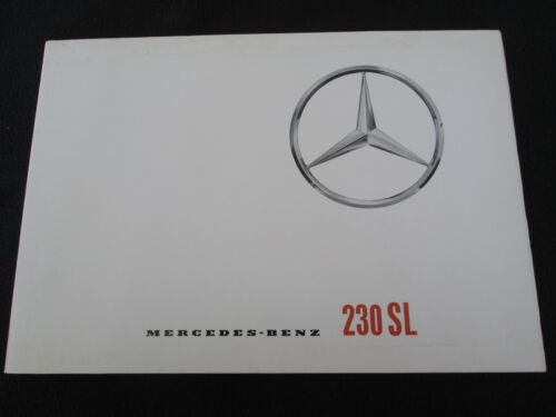 1964 Mercedes Benz Large 230SL Brochure Rare W113 Original 230-SLSales Catalog